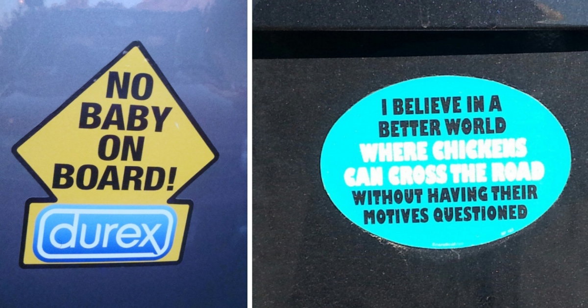 20 Bumper Stickers That Are Surprisingly HILARIOUS!