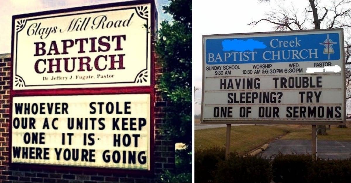30+ Hilarious Church Signs That Make Religion Fun!