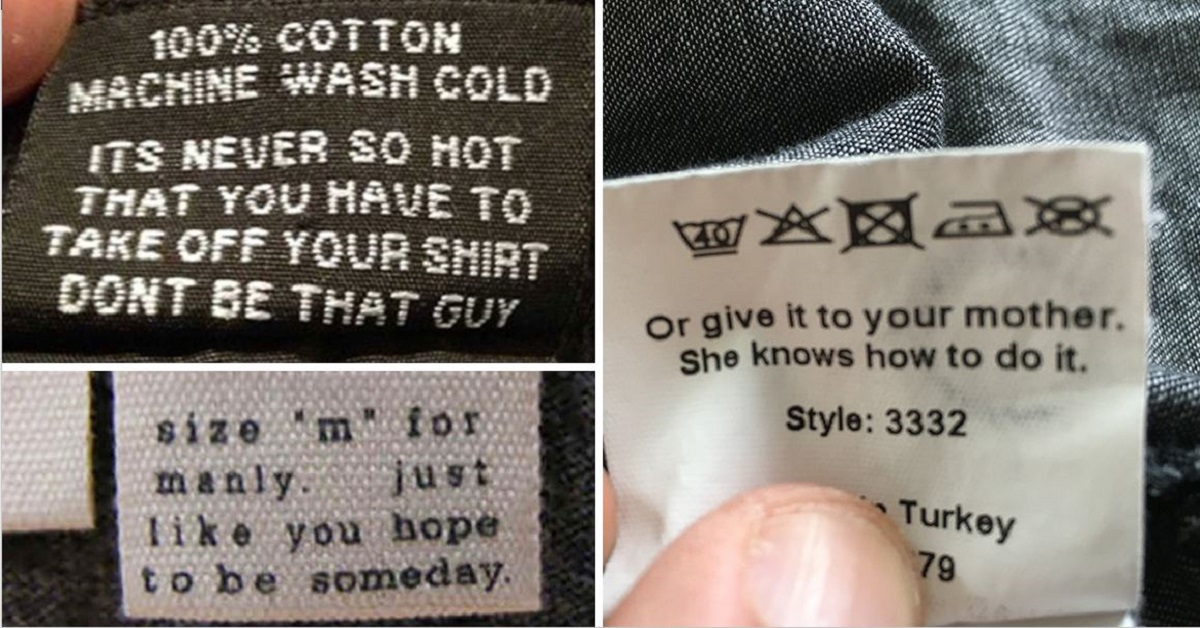 15+ Of The Funniest Clothing Tags EVER