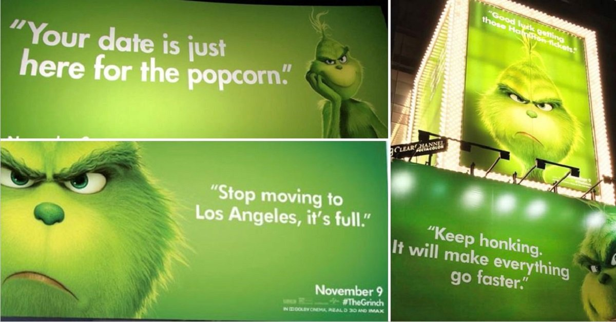 15 HILARIOUS 'The Grinch' Billboards That Keep Showing Up To Roast America