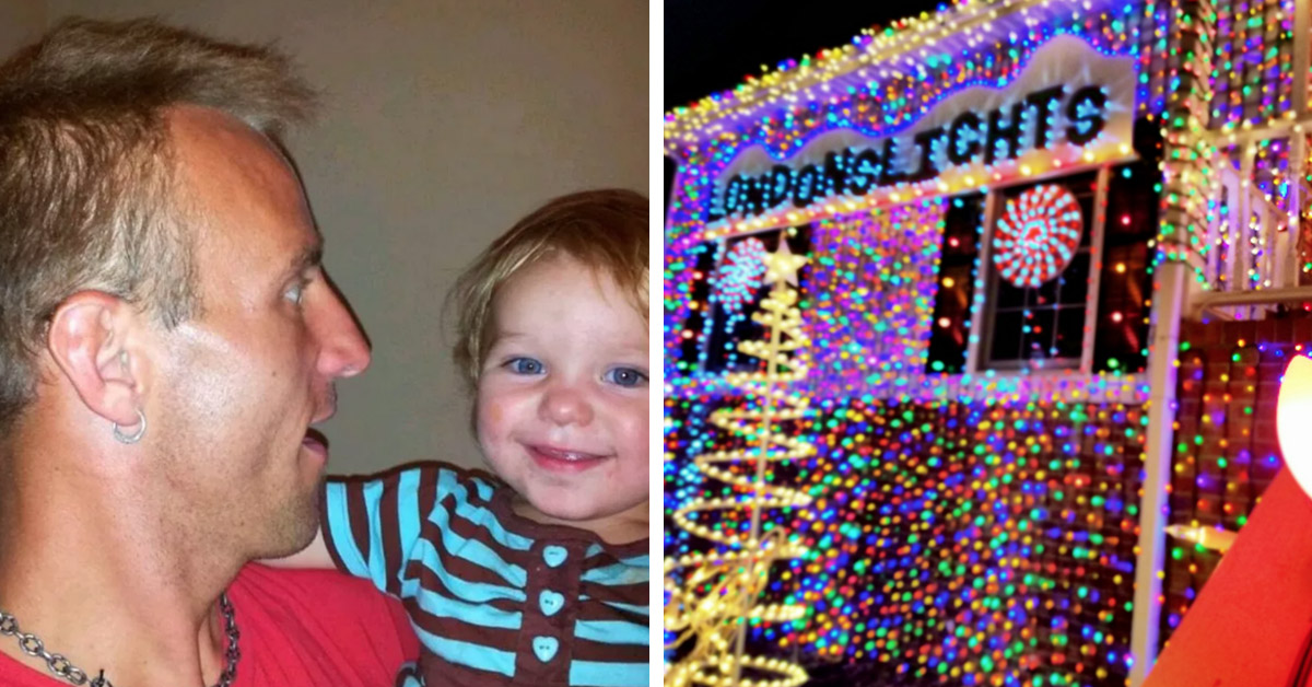 Grieving Dad Hangs 300,000 Christmas Lights In Memory Of His 2-Y-O Daughter