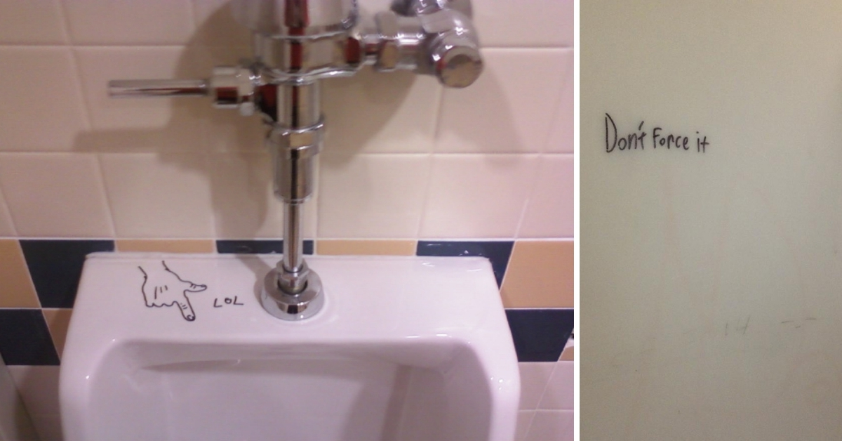 20 Times When Bathroom Graffiti Was Actually HILARIOUS!