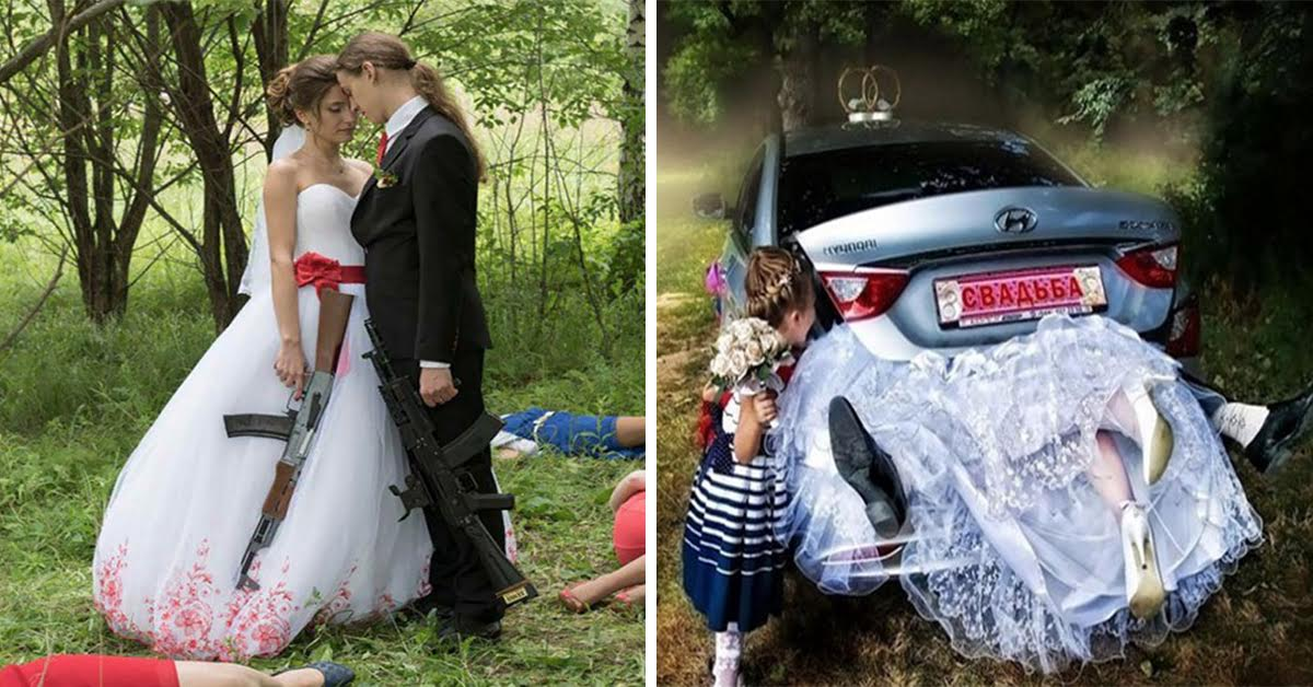 """27 Russian Wedding Photos That'll Have You Thinking """"What The…"""""""