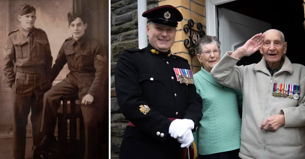 Heroic WW2 Veteran Is Presented With His Lost Medals On His 100th Birthday