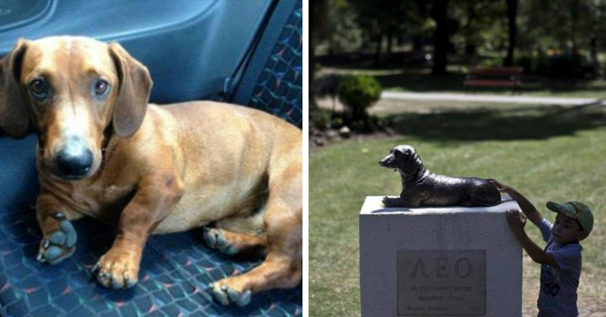 Statue Of Dog Who Saved A Little Girl's Life Is Placed In Local Park To Forever Watch Over Children