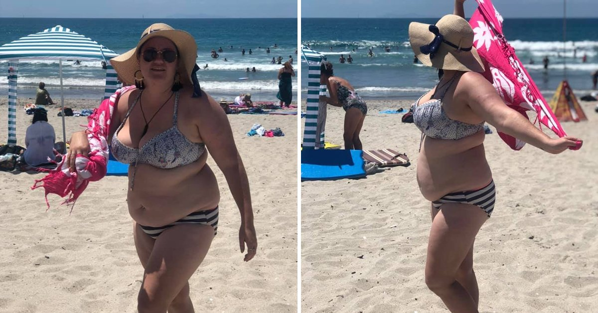 Blogger Has Great Response After Being 'Fat-Shamed' For Wearing Bikini On Beach