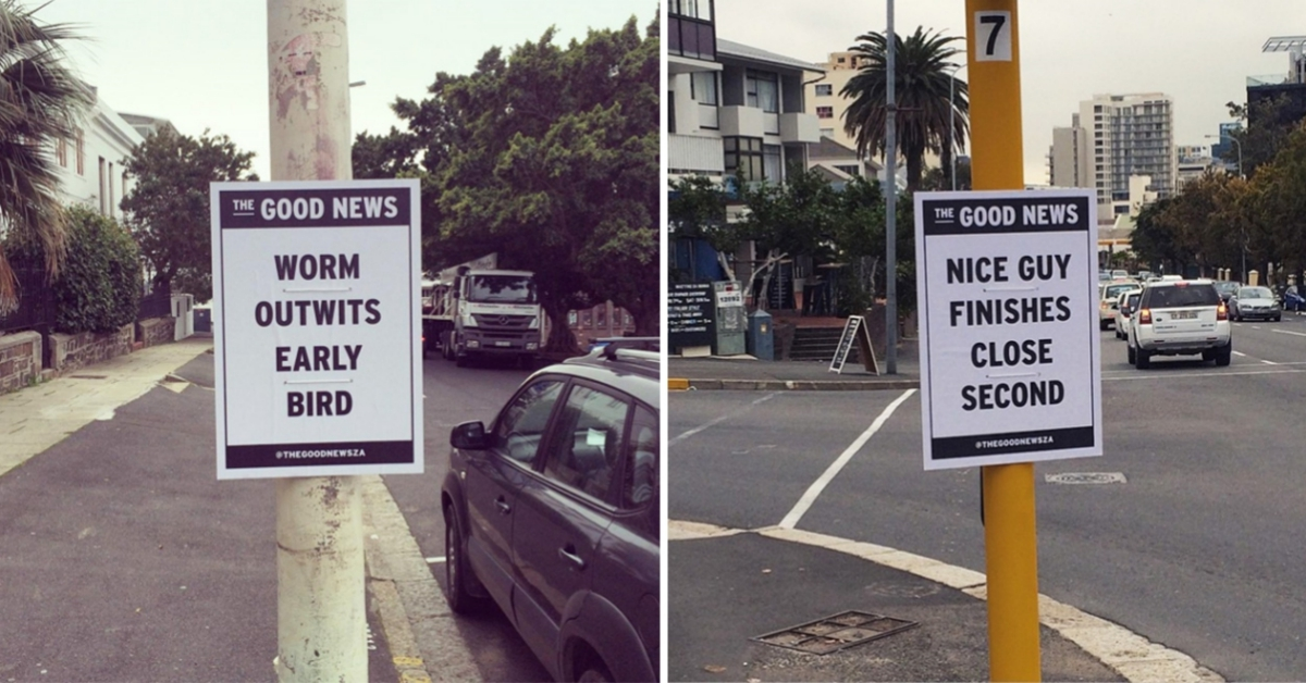 Artist Decides To Deliver THE GOOD NEWS Via Funny Flyers!