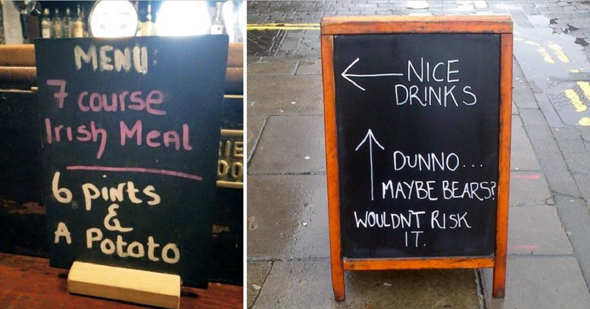 15 Funny Pub Signs That Will Make You Stop For A Pint