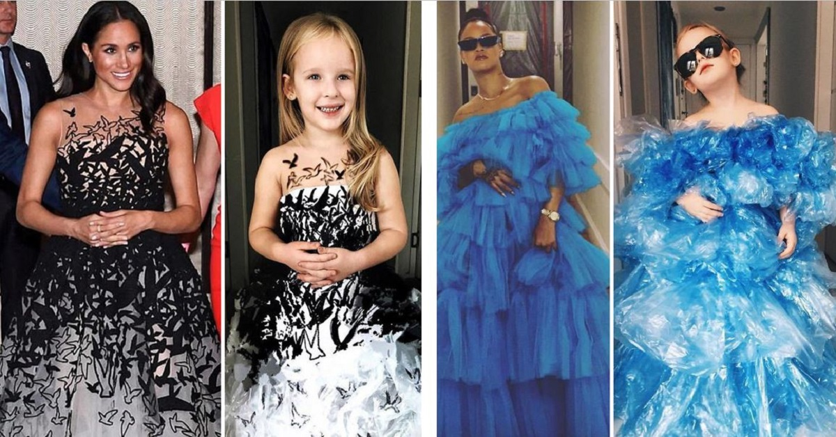 Mom Recreates Red-Carpet Looks For Her Daughter And Its Adorable