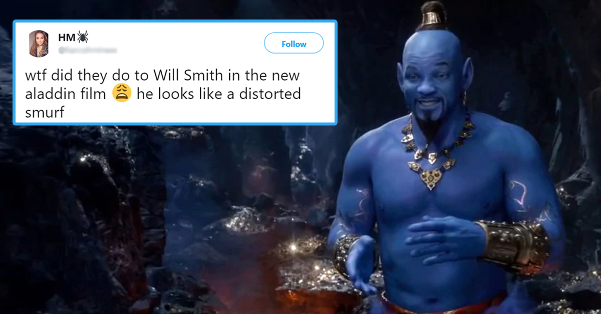 Trailer For 'Aladdin' Remake Drops, Internet Responds Hilariously To Will Smith's Genie