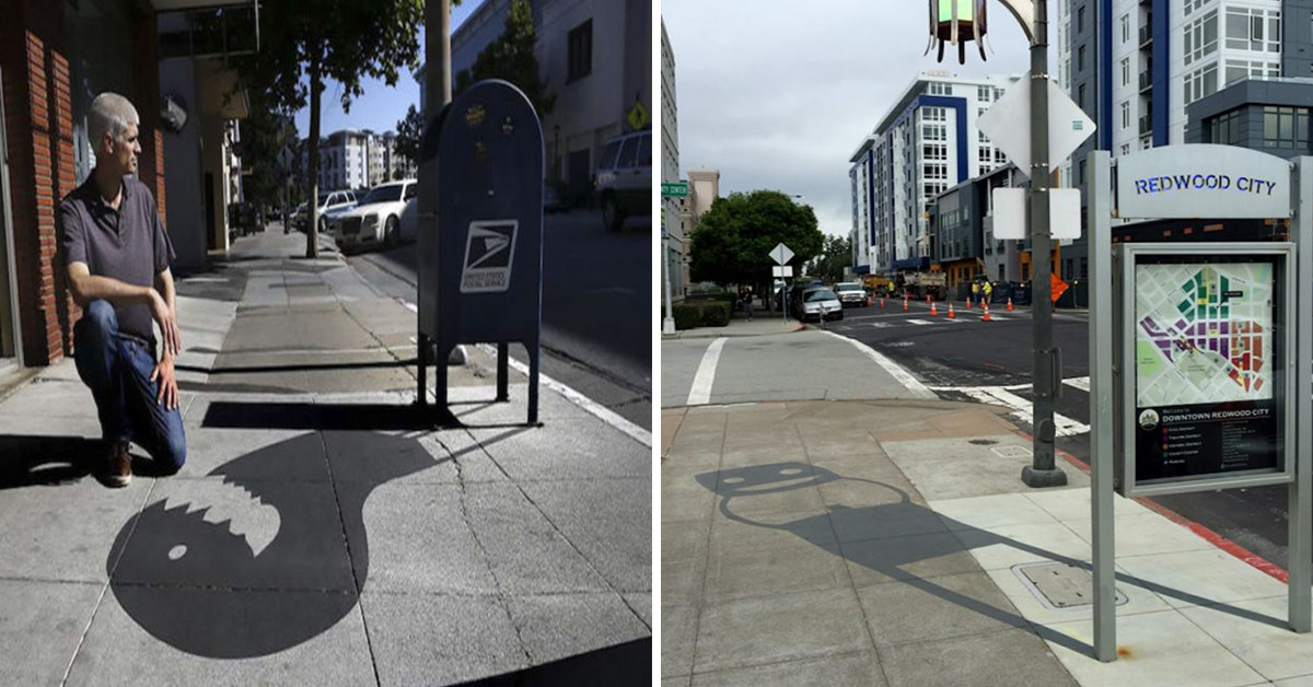 Street Artist Paints Fake Shadows To Fool The Public And It's Confusing Everyone