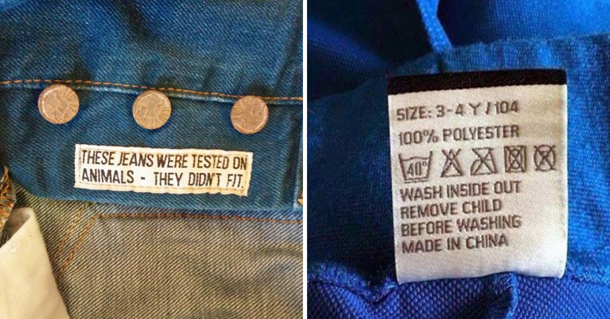 15+ Of The Most Inventive Clothing Tags You Might Find On Your Outfits