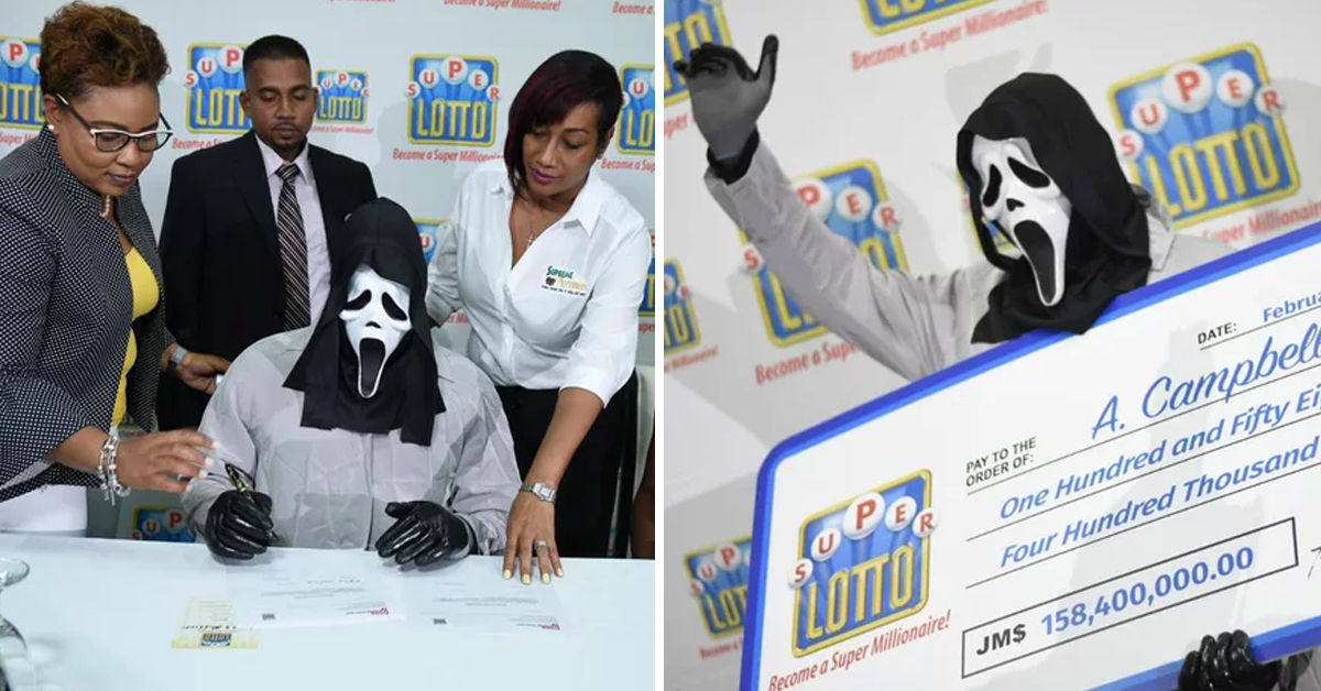 Lottery Jackpot Winner Claims His Prize In Disguise So That Family Don't Recognize Him