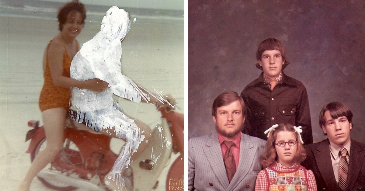 17 Awkward Family Portraits That Were Hilariously Affected By Divorce