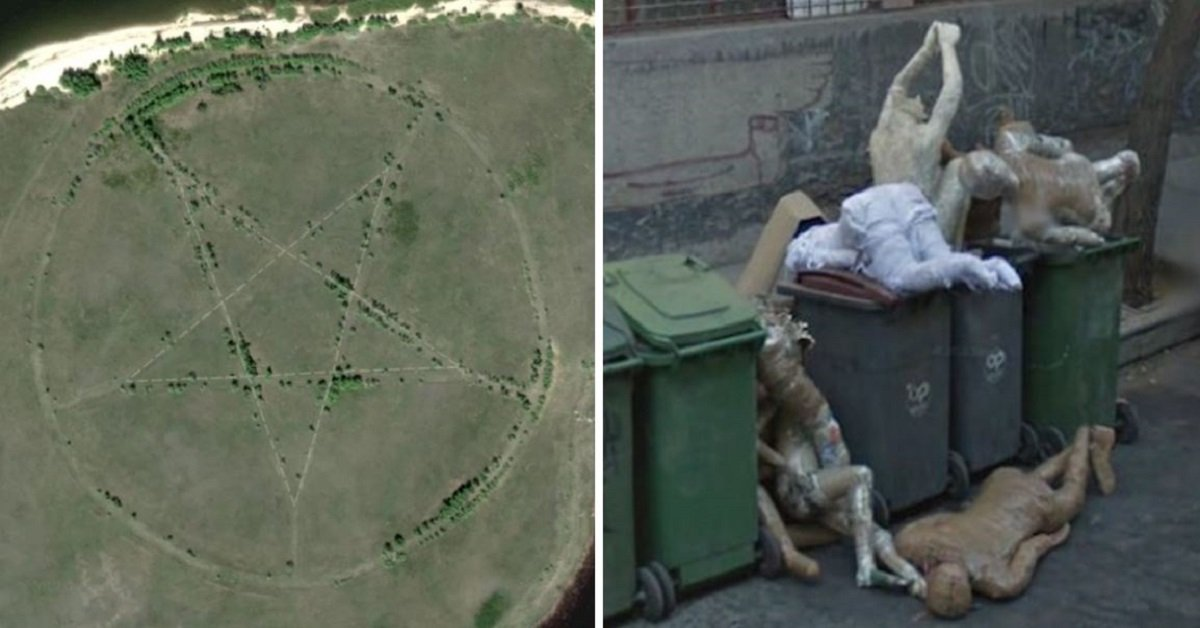 20 Of The Scariest Things Captured On Google Earth
