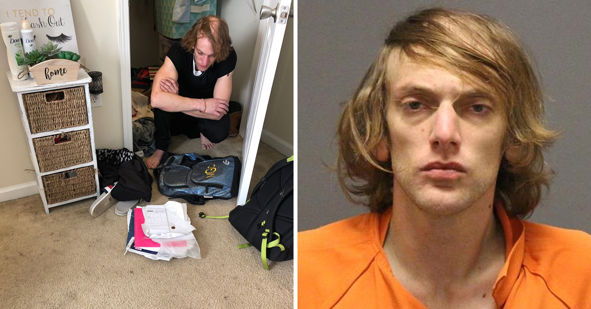 Female Student Returns Home To Find Male Intruder In Her Closet, Wearing Her Clothes