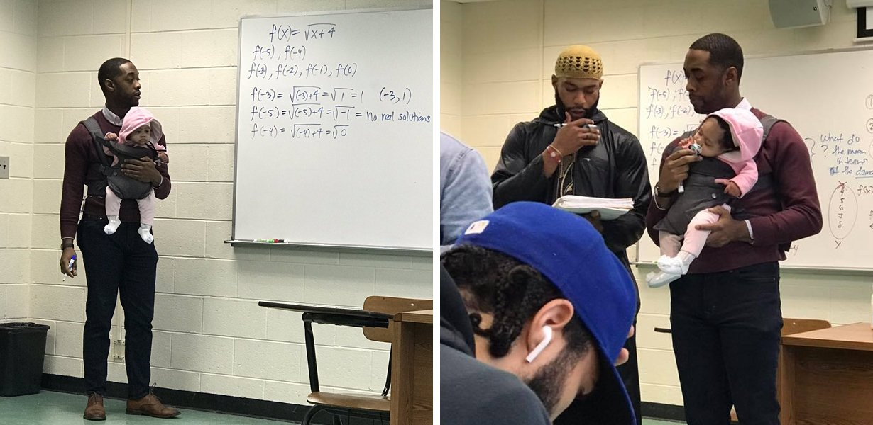 Professor Praised For Babysitting His Student's Child During His Lecture