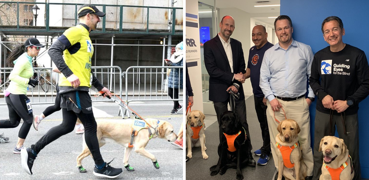 NYC Man Becomes First Legally Blind Person To Complete Half-Marathon With Only Dogs