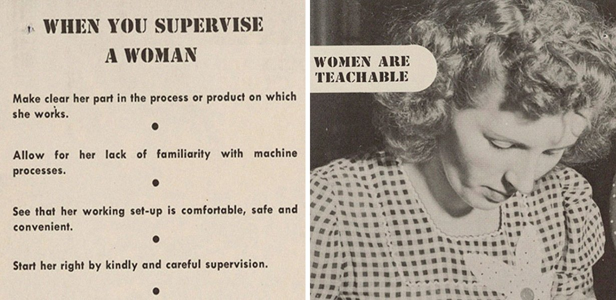 Wartime Document Found Explaining How To Treat Women In The Workplace & It's Ever So Slightly Outdated