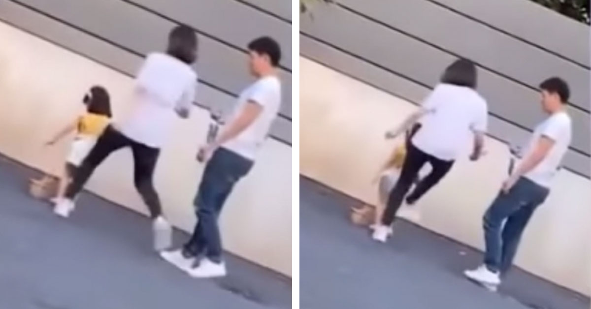 Outrage As Mom Is Caught On Camera Brutally Kicking Her 3YO Model Daughter Who Was Too Tired To Pose