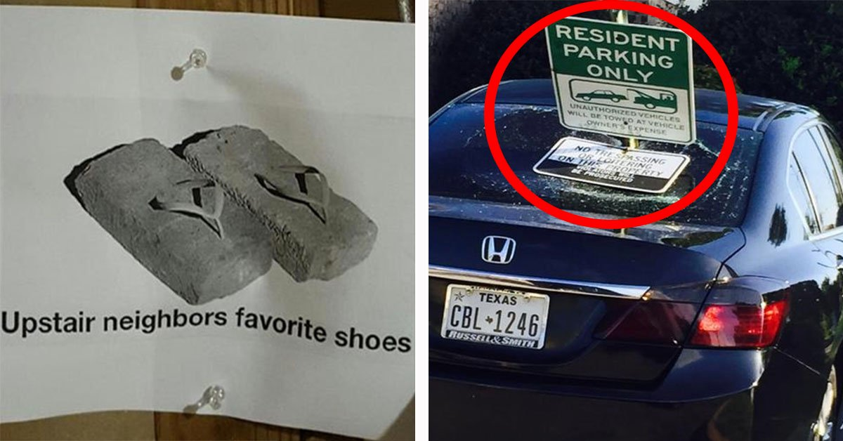 20 Amazing Neighbors Who Took Passive Aggression To Another Freakin' Level
