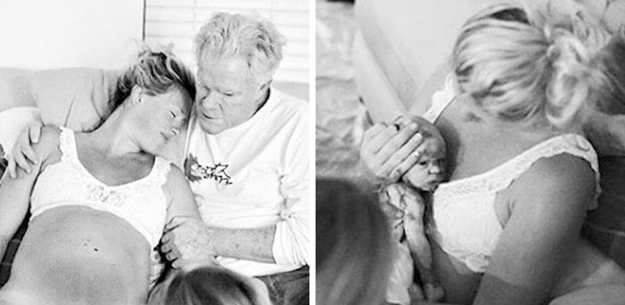Photos Of Dad Helping Daughter Through Home Birth Go Viral