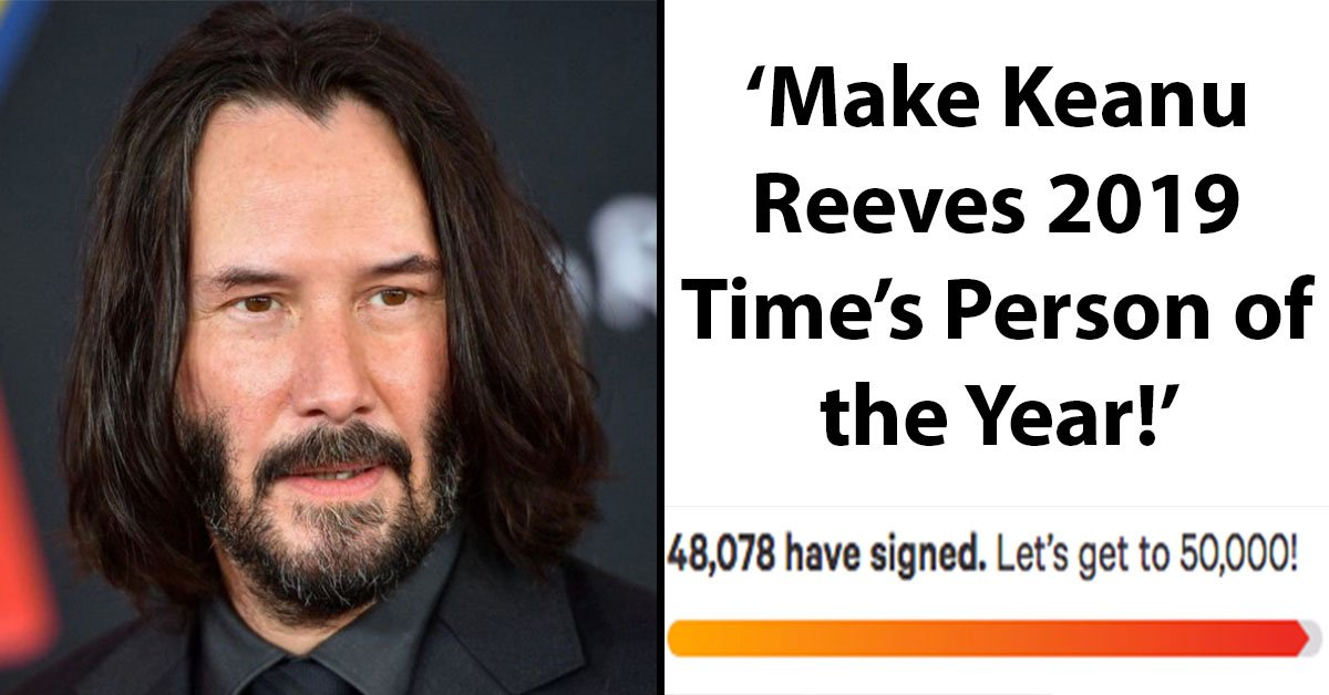 Fans Start Petition To Make Keanu Reeves 'Time Magazine's Person Of The Year 2019' And Gains Over 48,000 Signatures