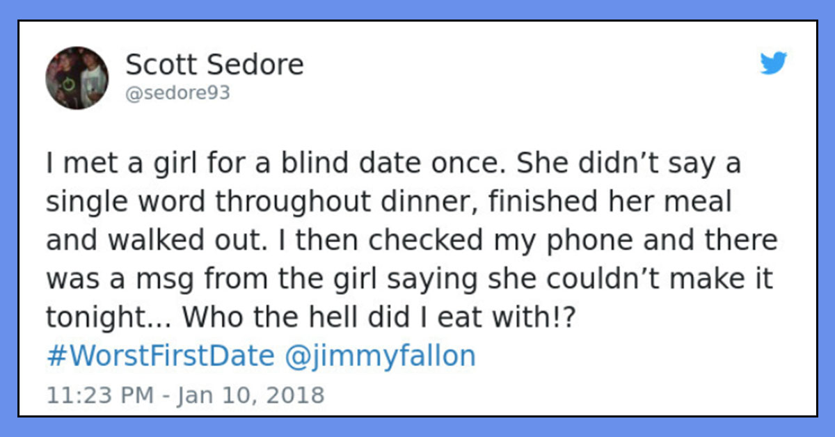 Jimmy Fallon Asked People For Their Worst First Date Stories And The Results Didn't Dissapoint