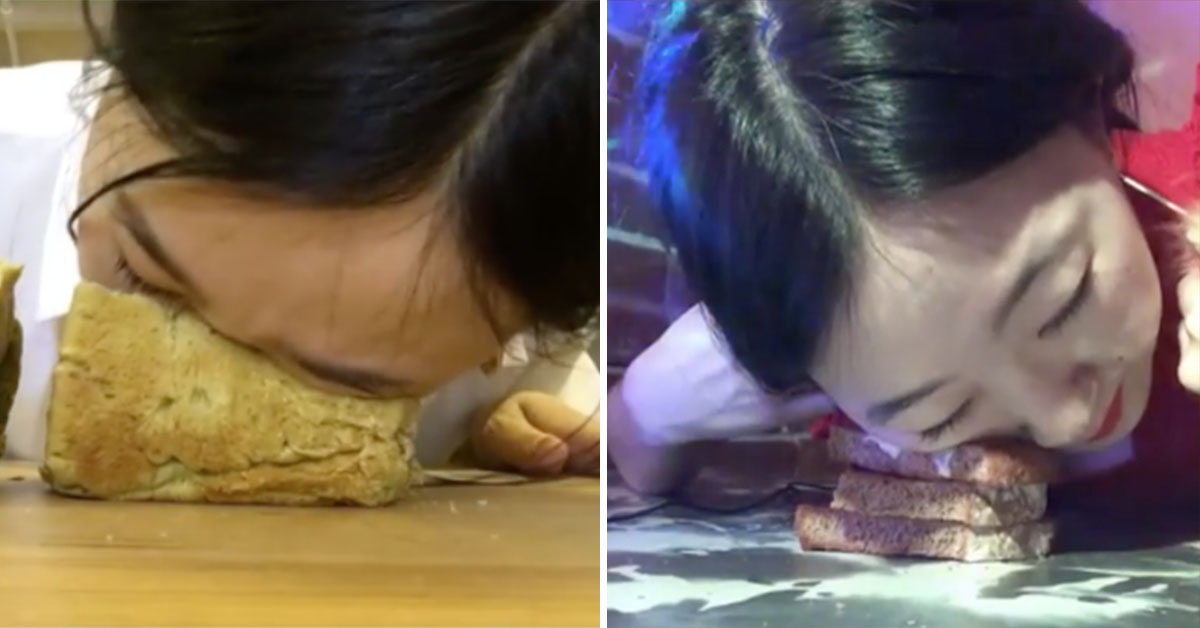 This Woman Makes Money By Smashing Her Face Into Bread And It's Both Bizarre And Captivating
